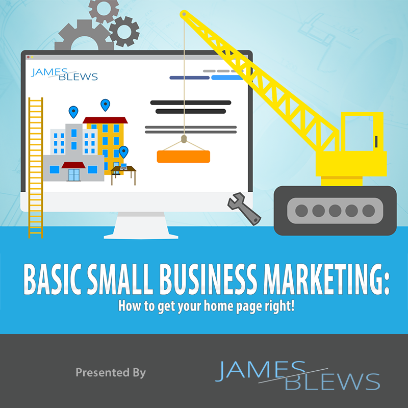 [INFOGRAPHIC] Basic Small Business Marketing: How to get your home page right!